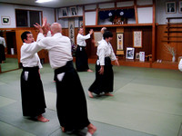 Our first class in Kawabe Dojo